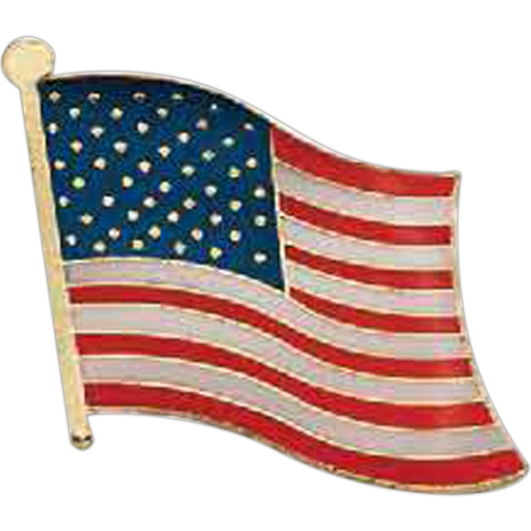 Printed Patriotic Line Flag Pin
