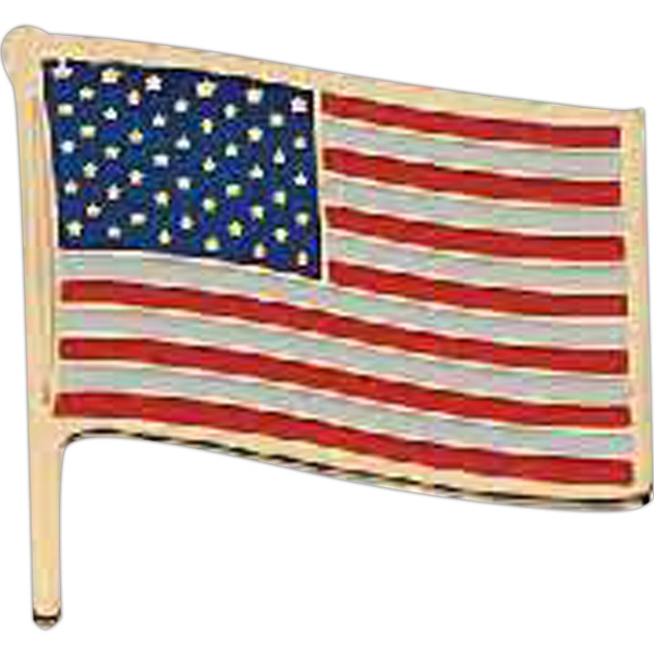 Personalized Patriotic Line Flag Pin