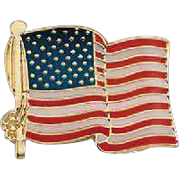 Promotional Patriotic Line Flag Pin
