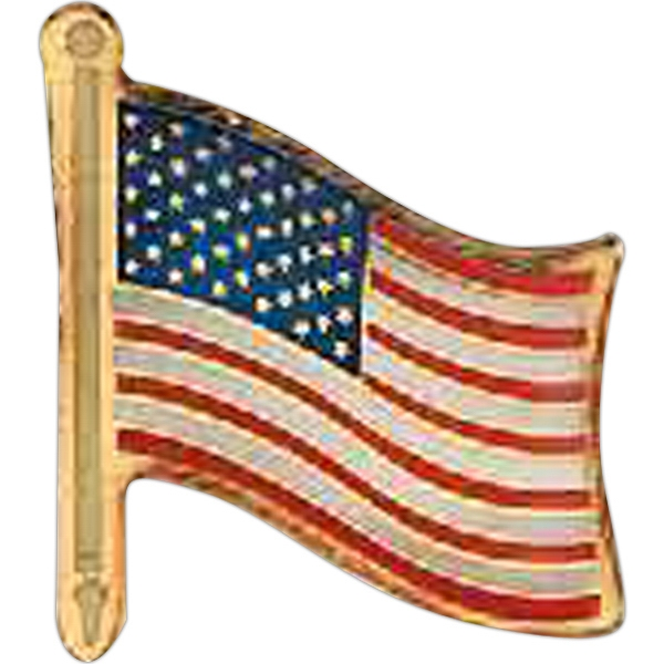 Custom Patriotic Line Flag Pin