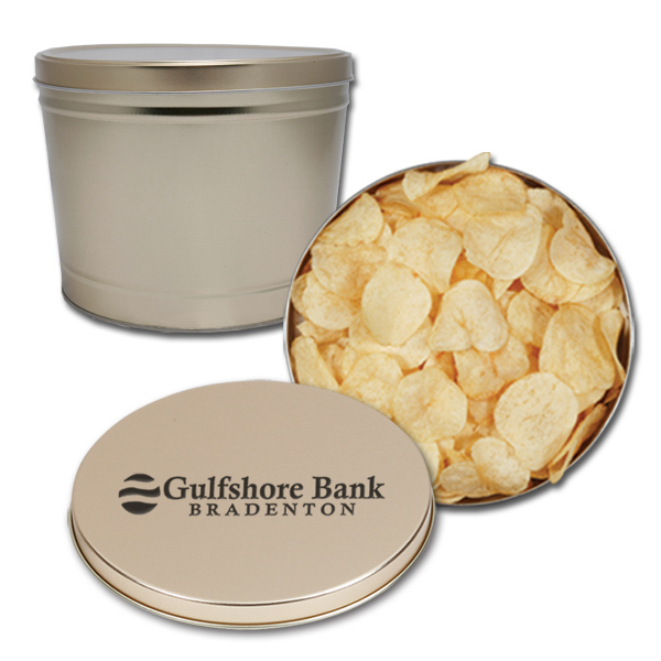 Custom Regular chips 2 gallon tin