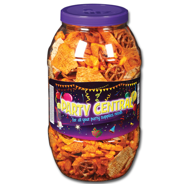Custom Snack Barrel - 30 oz. Party Mix