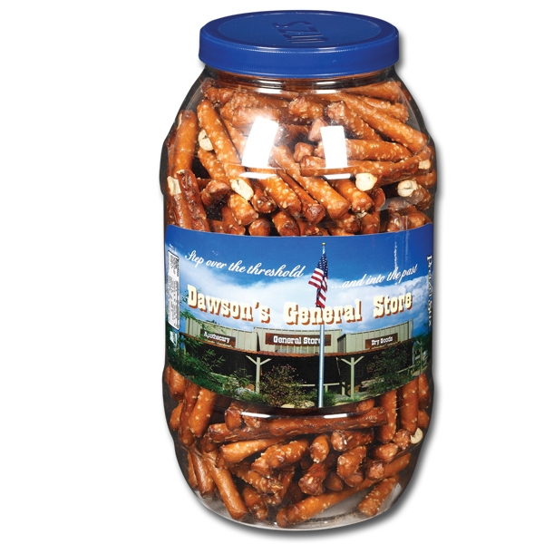 Printed Snack Barrel - 32 oz. Country Store Pretzel Stix