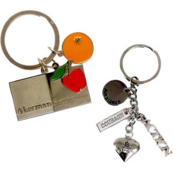 Imprinted Multi-Charm Key Tag