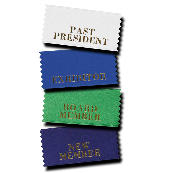 Promotional Horizontal badge ribbon