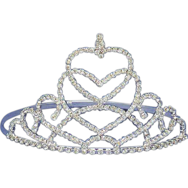 Customized Tiara with heart shape