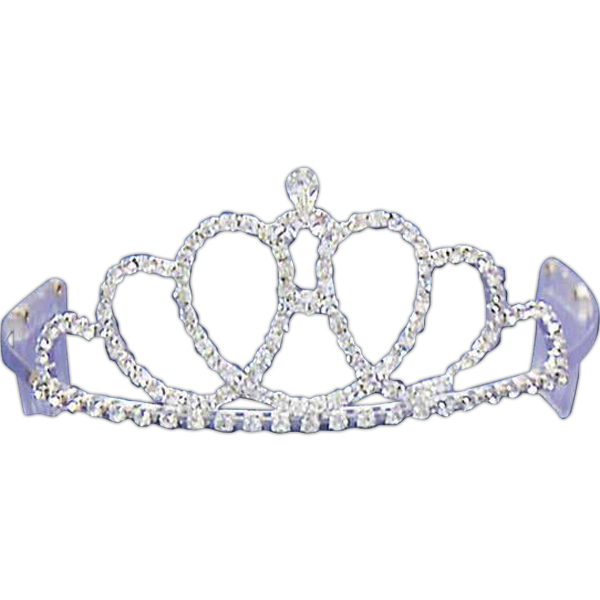 Printed Rhinestone tiara with loop design