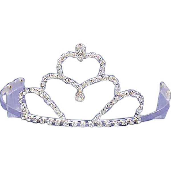 Custom Rhinestone tiara with heart shaped center piece