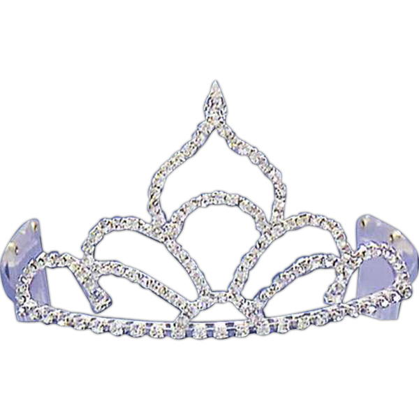 Personalized Rhinestone tiara with flame shaped top