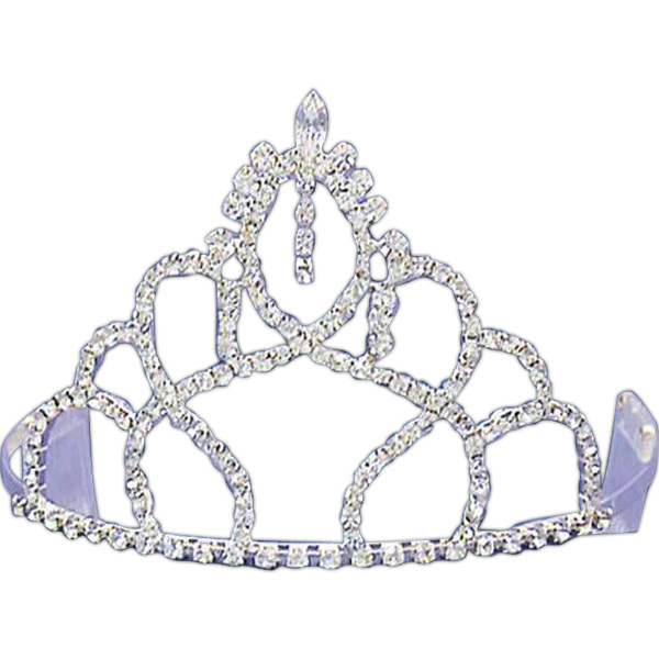 Customized Rhinestone tiara with oval shaped top