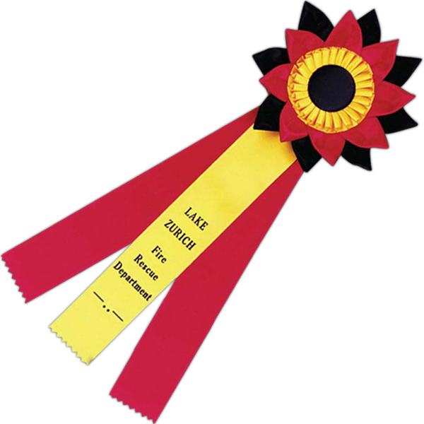 Imprinted Custom Rosette Ribbon