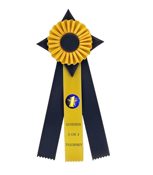Printed Custom Rosette Ribbon