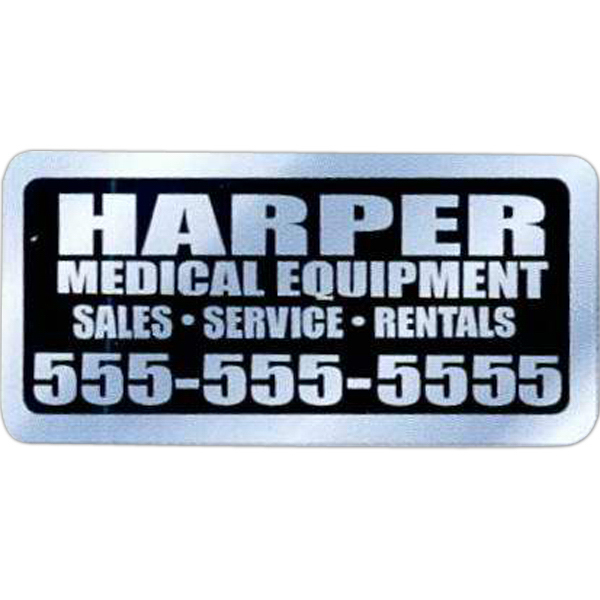 Imprinted Chrome Polyester Identification Decal