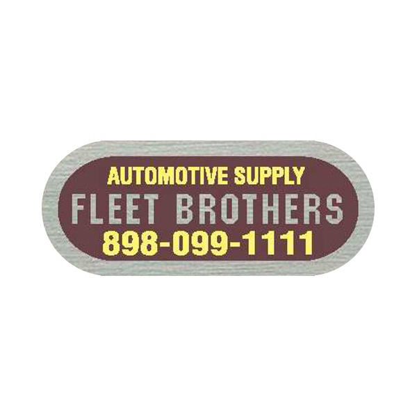 Promotional Brushed Chrome Identification Decal