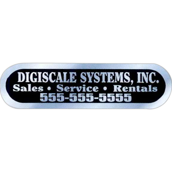 Printed Brushed Chrome Identification Decal