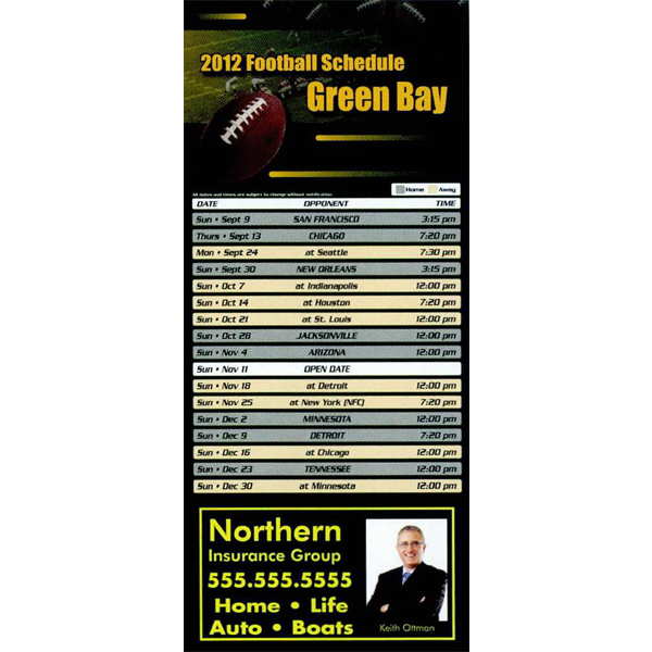Personalized Professional Sports Schedule Magnet