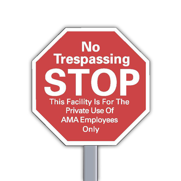 Personalized Security Yard Sign