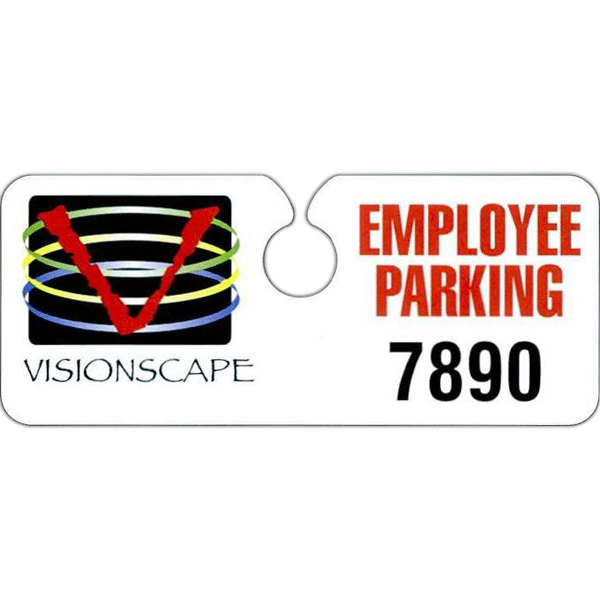 Custom Hidden Polyethylene Hang Tag Parking Permit