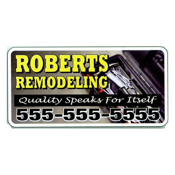 Personalized 4-Color Process Magnetic Sign