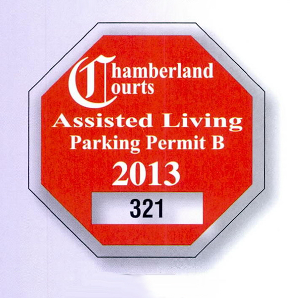 Personalized Die-Cut Parking Permit