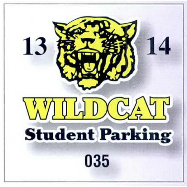 Promotional Square-Cut Parking Permit