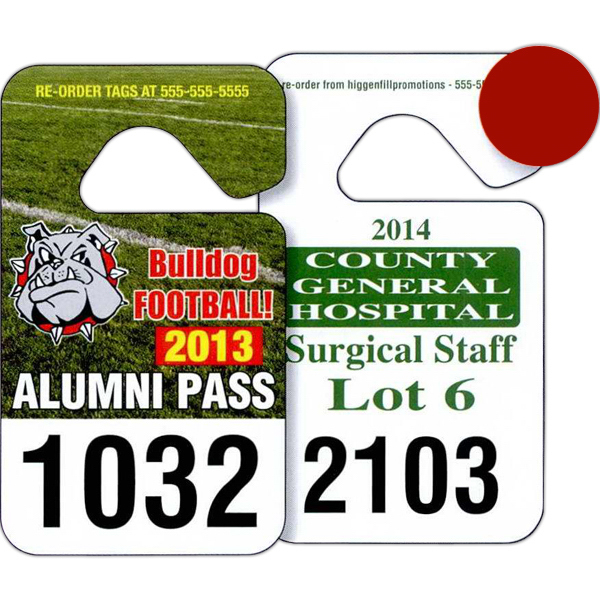 Custom Standard Hang Tag Parking Permit