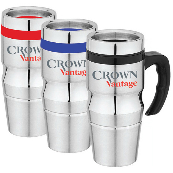 Custom Mesa - 16 oz Stainless Steel Travel Mug