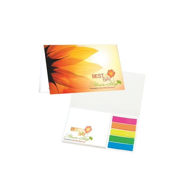 Personalized Mylar Flag and Notepad Booklet