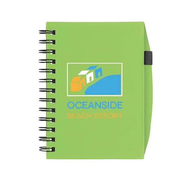 Imprinted Plastic Cover Notebook