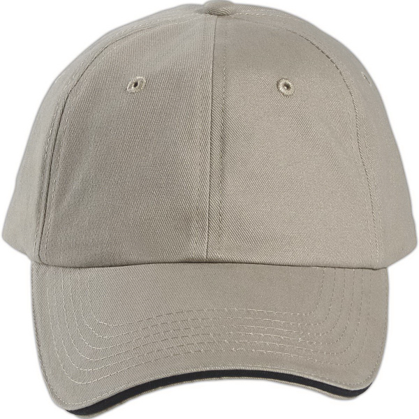 Custom Brushed Cotton Twill Sandwich Bill Cap
