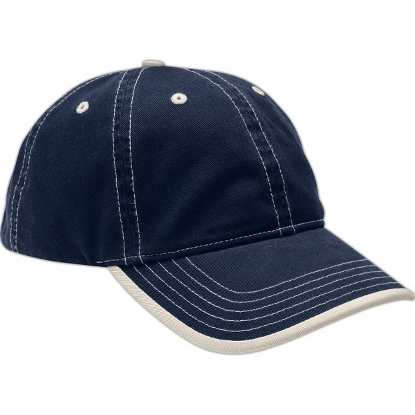 Promotional Contrast Stitch Cap with Rolled Edge Visor