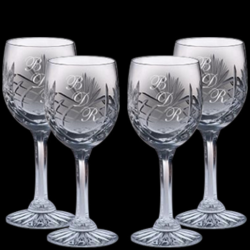 Imprinted Wine Glasses