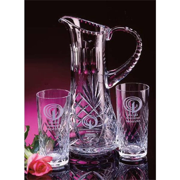 Personalized Water Pitcher And Beverage Glasses Set