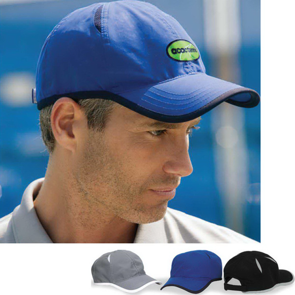 Custom Vansport (TM) Microfiber Cap With Mesh Insets