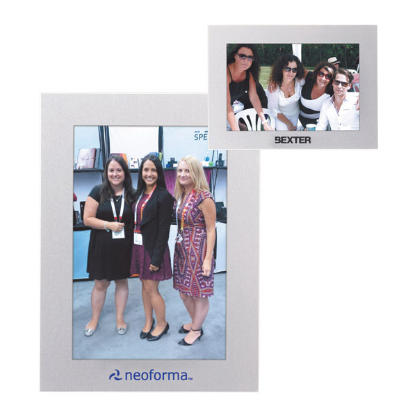 "Customized Aluminum 4"" x 6"" Photo Frame"