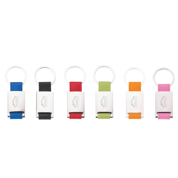Imprinted Colorplay Key Ring