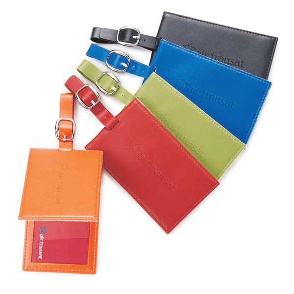 Promotional Colorplay Leather Luggage Tag