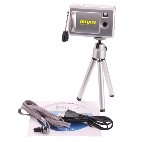 Imprinted Digital Camera with Telescoping Tripod