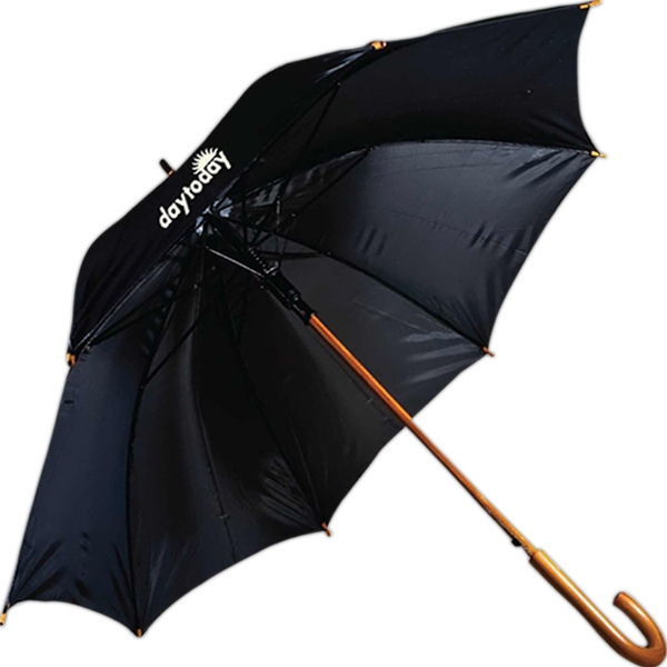 "Imprinted 48"" Lux Wood Umbrella"