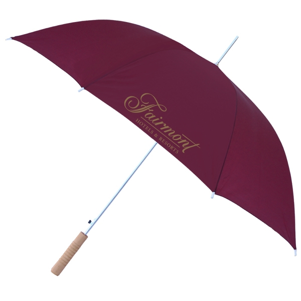 "Personalized 48"" Automatic Umbrella - Solid Colors"