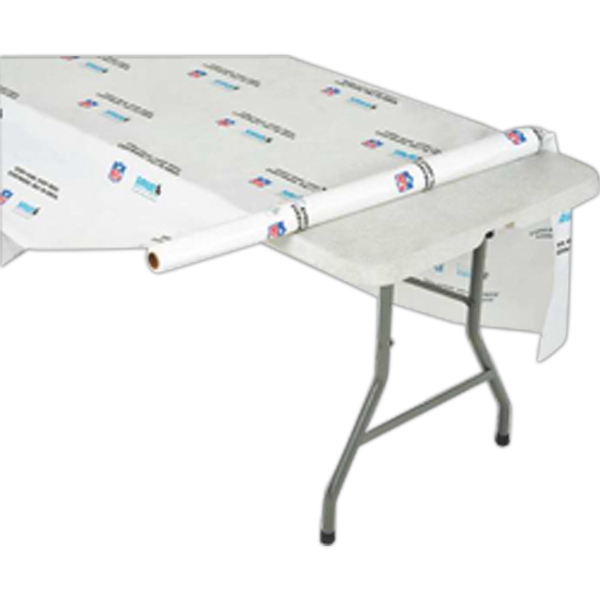 Custom Step & Repeat Plastic Disposable Table Cover