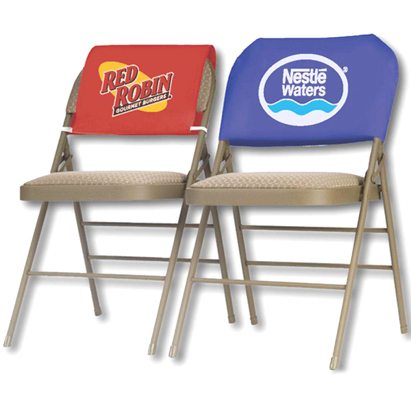 Printed Banquet Style Disposable  Advertising Chair Headrest Cover