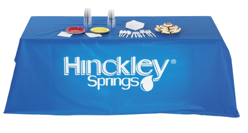 Imprinted Digitally Printed Disposable Plastic Table Covers