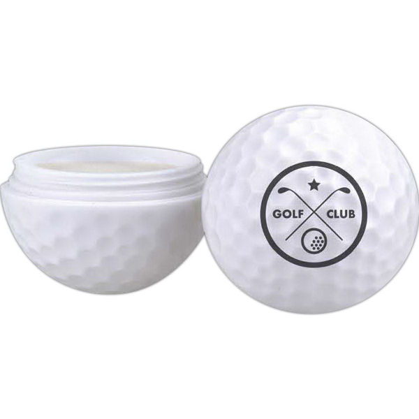 Customized Golf Ball Shaped Lip Balm Container