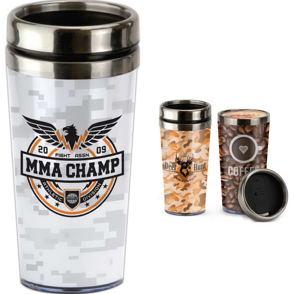 Printed 16 oz. Tumbler with Paper Insert