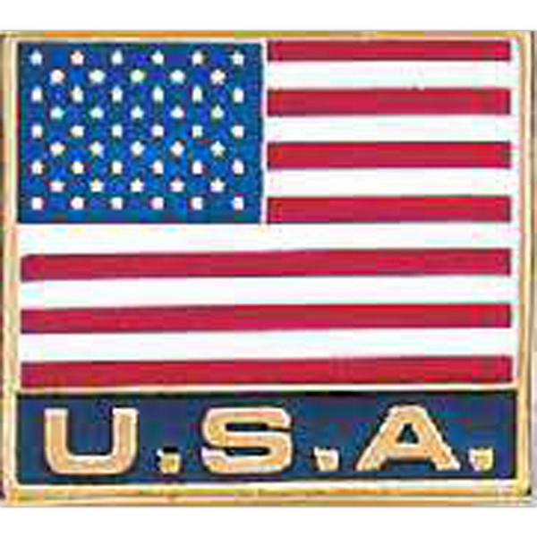 "Custom 7/8"" x 3/4"" USA Lapel pin"