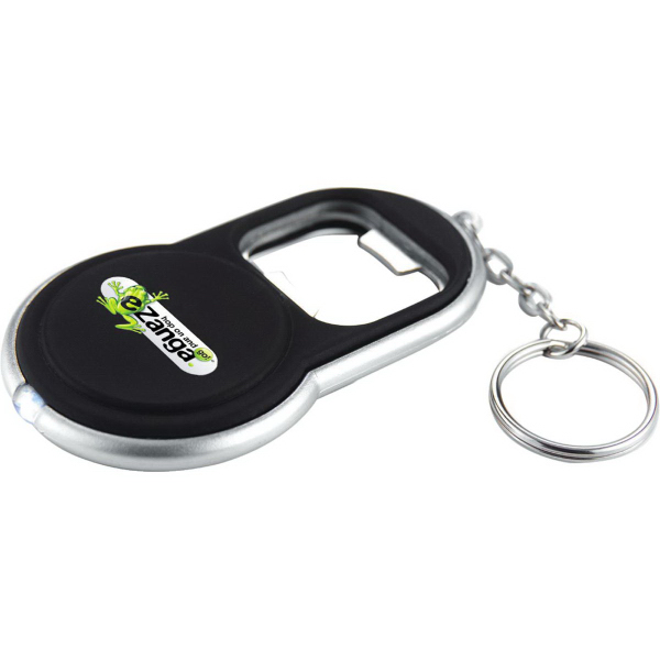Printed Circle Bottle Opener Keylight