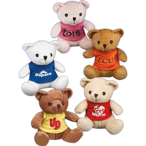 "Personalized Benny Bear (TM) 8"" stuffed bear with embroidered eyes"