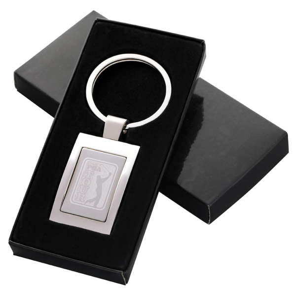 Personalized Rectangular Key Tag - Laser Engraved