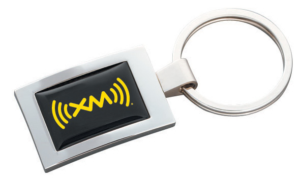 Printed Rectangular Key Tag with N-Dome (tm)